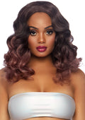 "Leg Avenue 18"" Curly Ombre Long Center Part Bob Costume Wig"