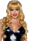 "Leg Avenue 26"" Long Curly Bang Costume Wig With Braid"