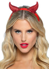 Leg Avenue Latex Glitter Devil Horn Headband