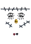 Leg Avenue Stitches Adhesive Face Jewels Sticker Set