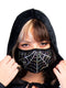 Spider Web Rhinestone Face Mask