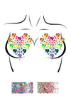 Leg Avenue Prism Adhesive Jewel Nipple Stickers and Body Glitter Pack