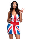Leg Avenue British Flag Dress 90s Pop Star Costume