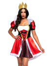Leg Avenue 2-Piece Wonderland Queen Costume Dress Set