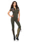 Leg Avenue Top Gun Flight Suit spandex catsuit with changeable name badges