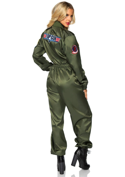 Leg Avenue Official Top Gun Zip Up Parachute Women's Flight Suit