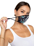 Legavenue Iridescent Foil Skull Face Mask