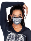 Legavenue Lace Print Skull Face Mask