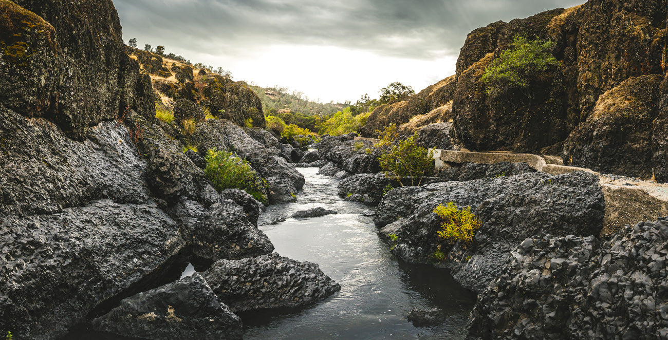Bear Hole - Bidwell Park Landscape - Upper Park, reference image for the monoline graphic tee