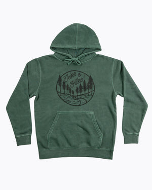 Take a Hike Nature Trail Pigment Dyed Pullover Hoodie