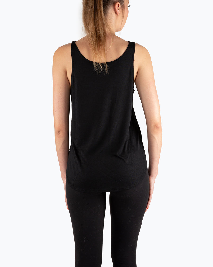 Big Oak Tree Side Slit Tank Black