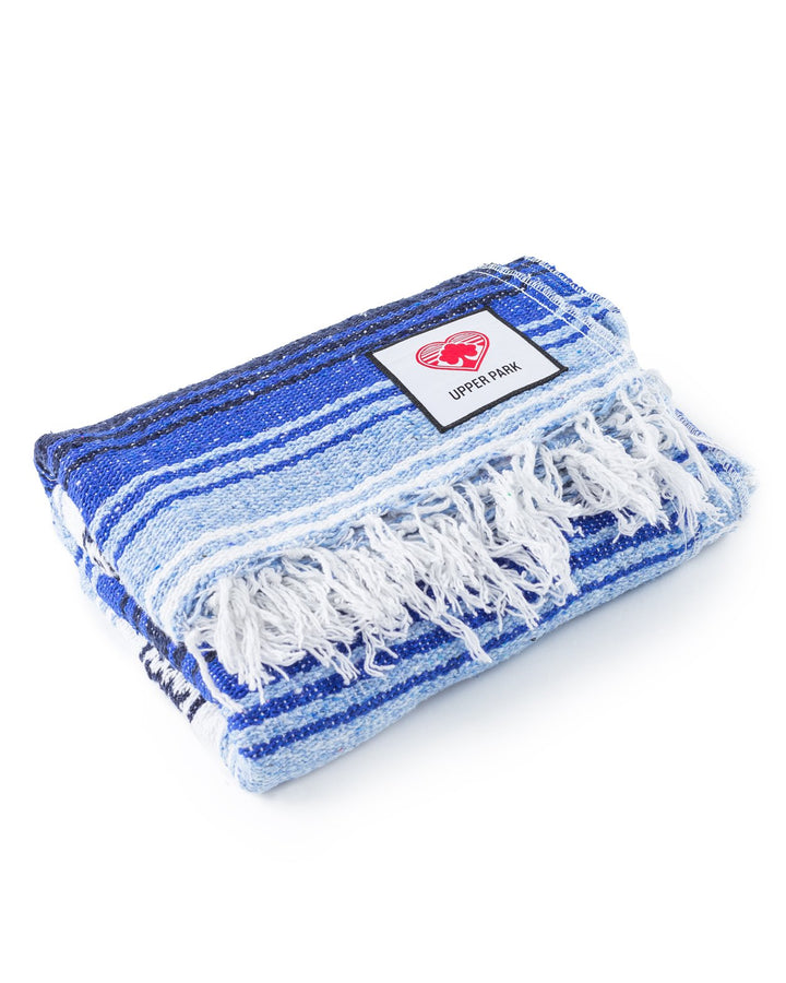Mexican Blanket Cobalt/Light Blue/White