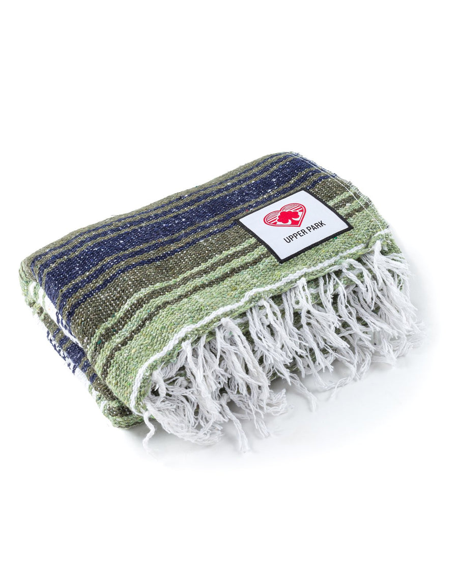 Mexican Blanket Dark Olive/Light Olive/White