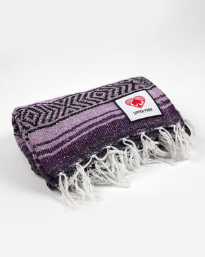 Mexican Blanket Dark Purple/Light Purple/Charcoal