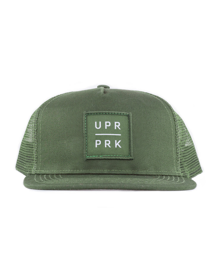 Olive Box Logo Trucker Hat Low-Pro