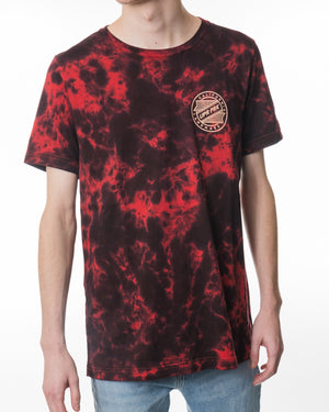 Speedlite Badge Crumple Tie Dye Tee Red