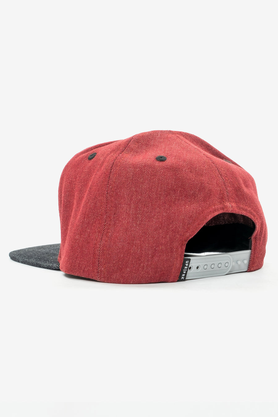 Denim Cali Badge Mid-Pro Hat - Maroon