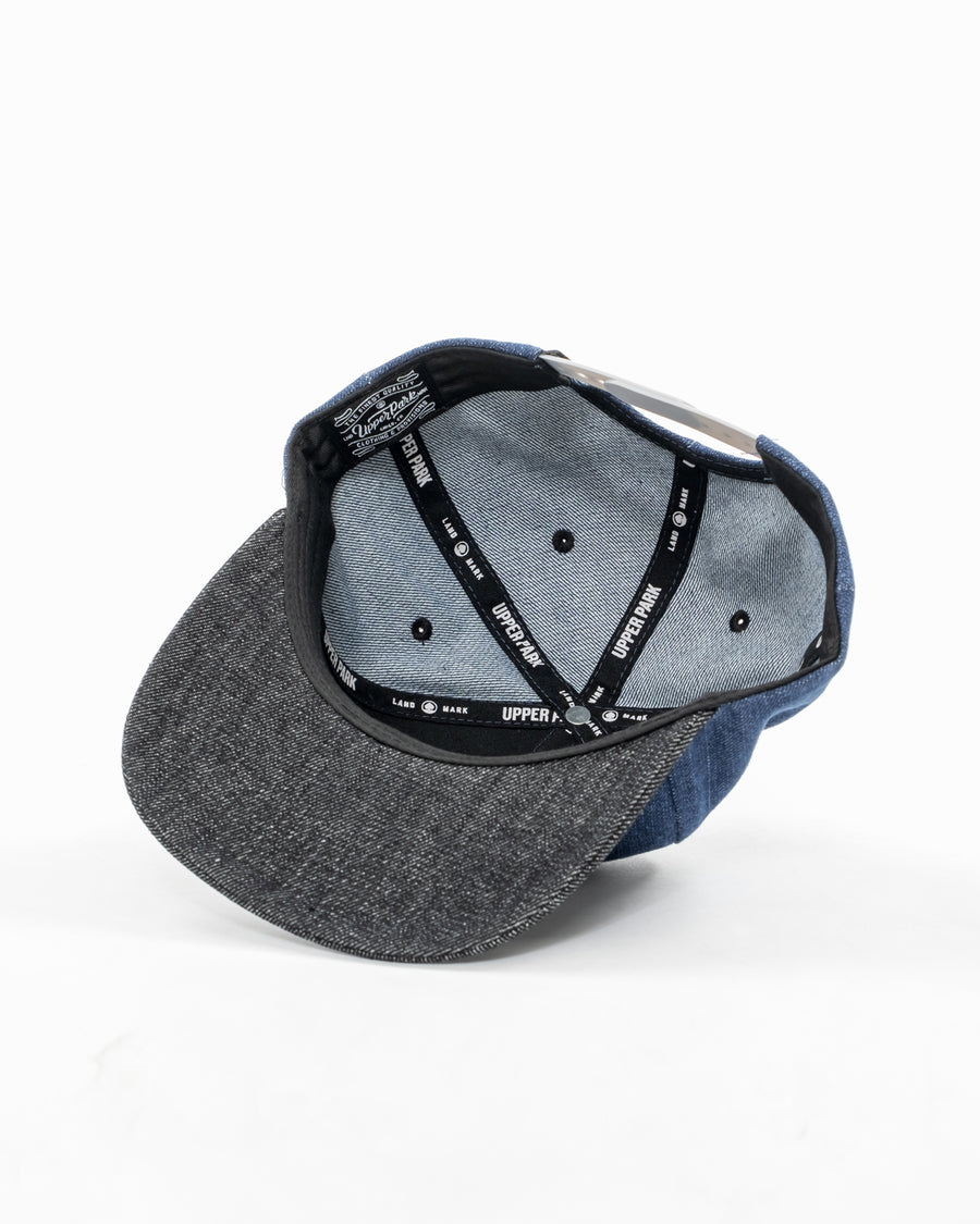 Denim Cali Badge Mid-Pro Hat - Indigo