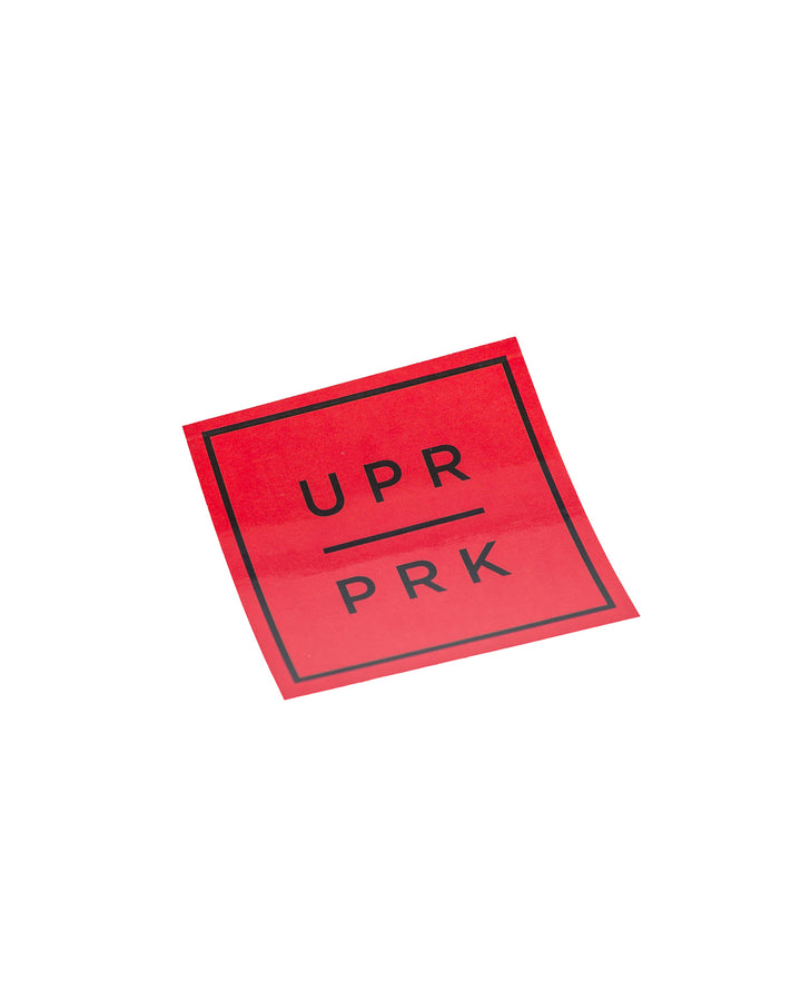 UPR PRK Square Stickers Red