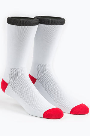 White/Red UPR PRK Socks