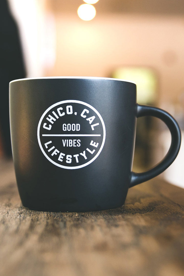 Chico, Cal Good Vibes Cafe Mug