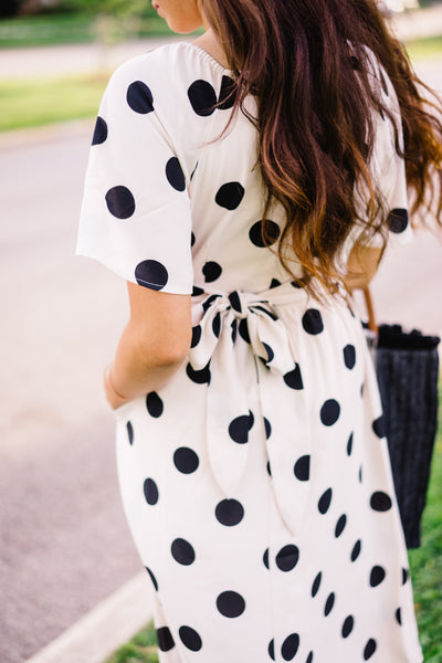Camille Polka Dot Dress
