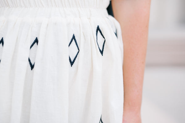 Pippa Diamond Embroidered Skirt