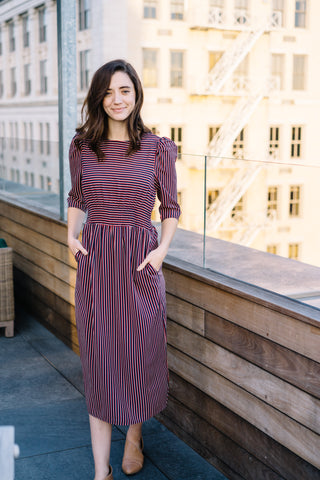 Ada Striped Midi Dress