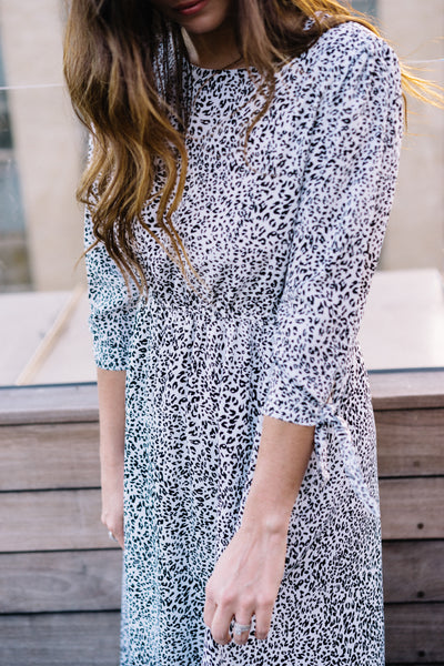 Isabella Leopard Midi Dress