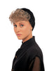Style #166 - Bangs, pre-curled, on Velcro Strip that easily attaches to the inside of turbans, scarfs, and hats;