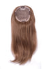 "Style #182 H - 100% Human Hair 16"" Hair Length Topper with hand made transparent MonoFilament Base @ 6""X6""; features poly around edges."
