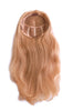 "Style #307H: 100% Human Hair Luxurious Long 16"" Fall on a 3/4 Cap Demi Fall Cap; thick, full and re-styleable into many style patterns with hot tools."