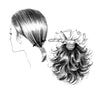 Style #125 - Barretted stylish hairpiece for the back nape area, comes in a pre-curled layered shag stylehairstyle