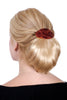 "Style #235 - Short ""Pony Page Chignon"" on a Tortoise Shell Barrette"