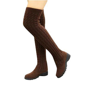 Knitted Over the Knee Boots