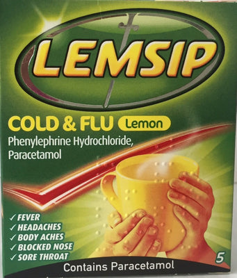 Lemsip Cold & Flu Lemon 5pk
