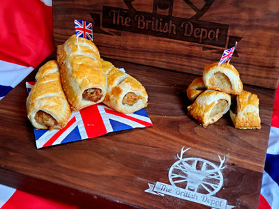 British Depot Large Sausage Rolls 2pk 8oz (1/2 lb Ship Weight)