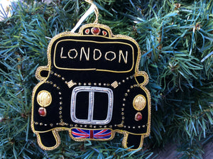 London Taxi Christmas Ornament