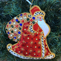 Crystal Royal Father Christmas Ornament