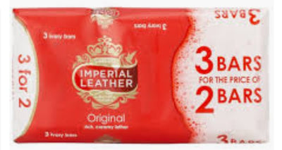 Cussons Imperial Leather Soap 3 x 100g bars.