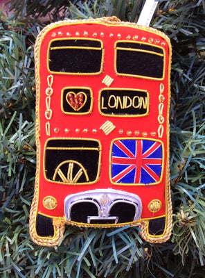 London Bus (Front) Christmas Ornament