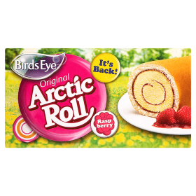 Birds Eye Raspberry Ripple Arctic Roll 260g *RETAIL STORE ONLY*