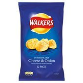 Walkers Cheese & Onion 12 pack 150g