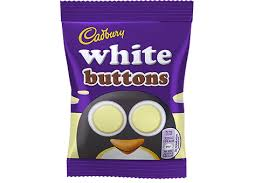 Cadbury White Chocolate Buttons 32.4g