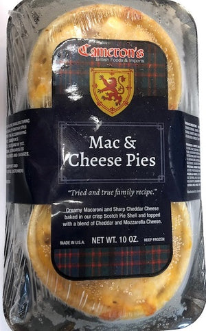 Cameron's Scottish Style Mac & Cheese Pies 2 pk 10oz (1lb Ship Weight)
