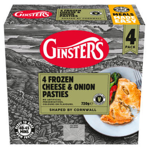 Ginsters Cheese & Onion Pasties 4 Pack 720g (2lb Ship Weight)