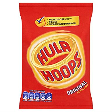 Hula Hoops Ready Salted 34g