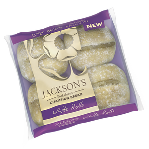 Jackson's White Rolls 4 Pack (2lb Ship Weight) *Limit 1 per order*