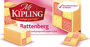 Mr Kipling Battenberg Whole Cake 230g (1/2lb Ship Weight)
