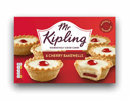 Mr Kipling Cherry Bakewell 6 Pack 150g (1/2lb Ship Weight)